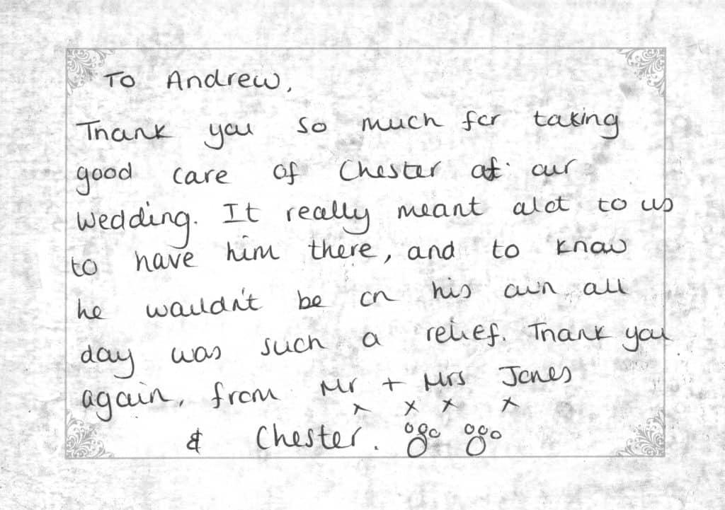 Client testimonial Mr & Mrs Jones